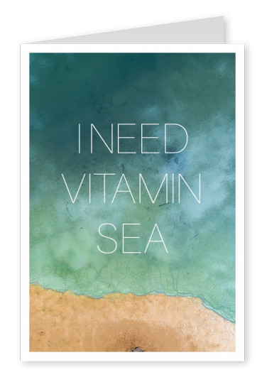 beach with quote I need vitamin sea