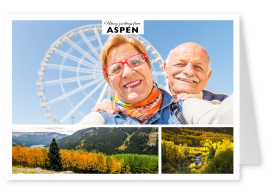 greeting card with photos of Aspen, Colorado