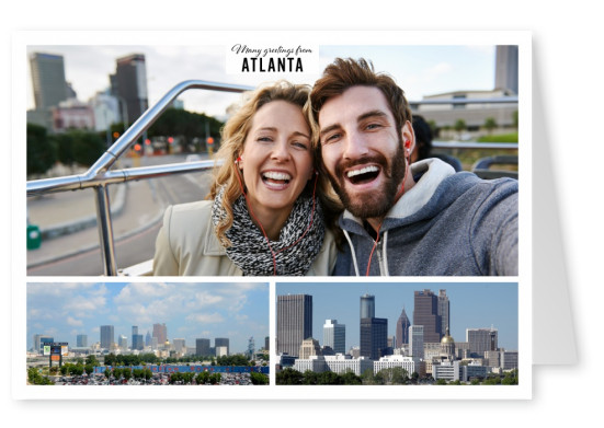 two photos of Atlanta's tower buildings