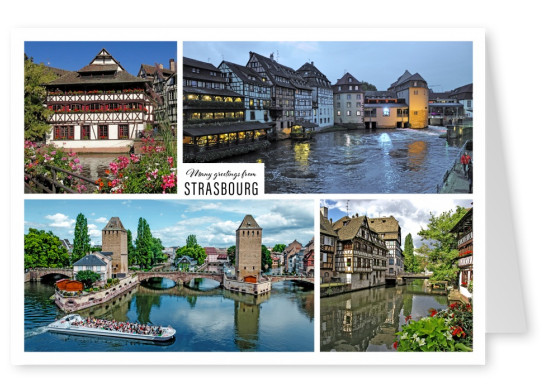 Quarter of Strasbourg La Petite France in four photos