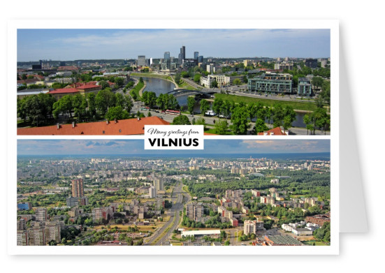 two panorama photos of Vilnius - old town
