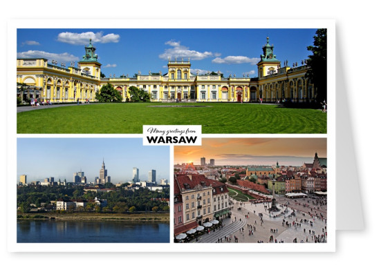 three sights of warsaw - Wilanow palace, business innercity and oldtown