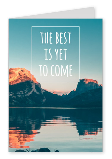 mountain with quote