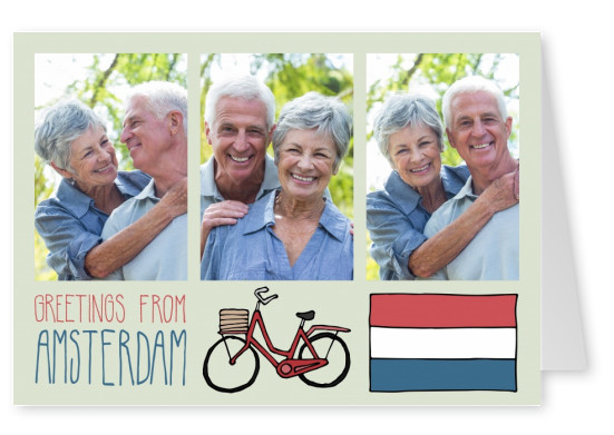 template with illustrations from Amsterdam
