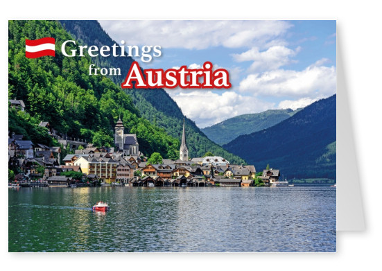 Postcard with photo of Hallstadt in Austria