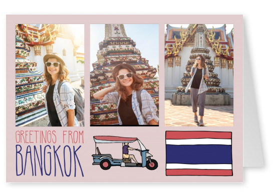 template with illustrations from Bangkok