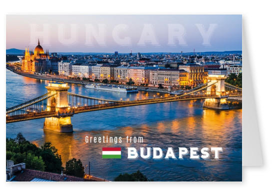 Photo of budapest with the river donau in front at evening time