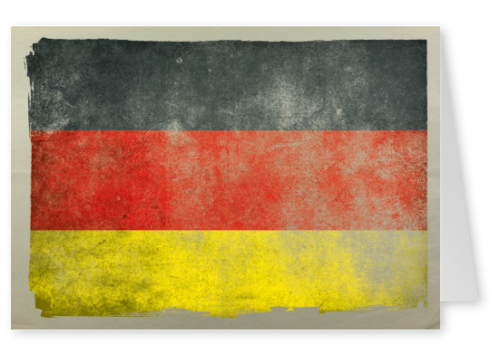 Postcard flag Germany