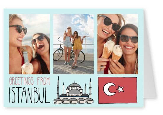 template with illustrations from Istanbul