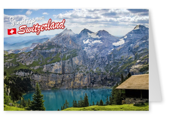 Postcard Switzerland with 1 photo
