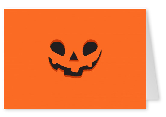 Orange card with pumpkin