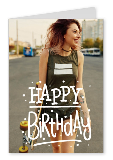 White Text Happy Birthday