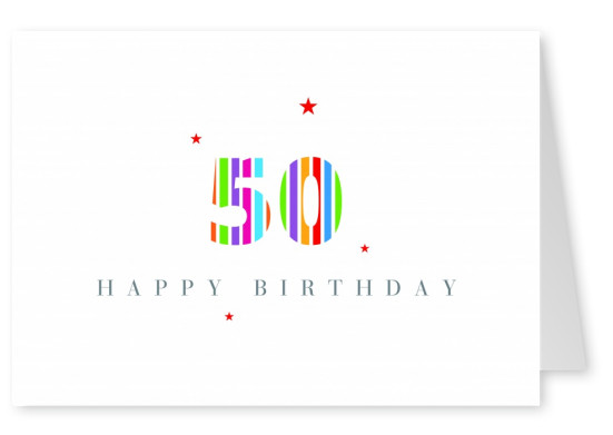 Happy Birthday card fiftieth