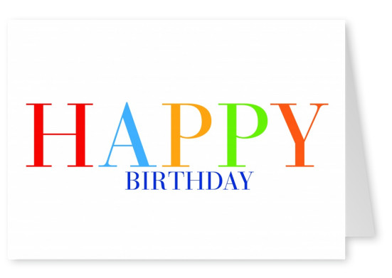 Happy Birthday in colored letters