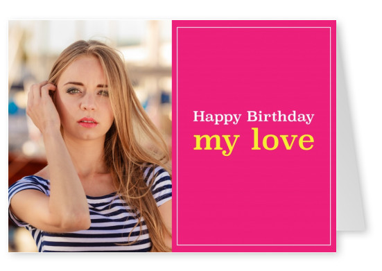 Birthday card with rose template
