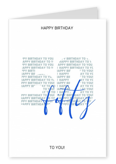Happy Birthday card vijftigste