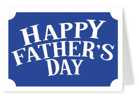Happy fathers day classic fathers day cards send real happy fathers day white on blue m4hsunfo