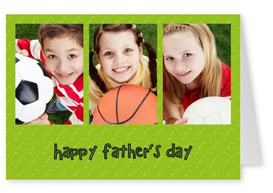 Happy Fathers'day with green background and paperplanes