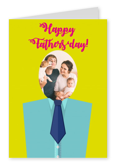 personalized greetingcard with shirt and tie