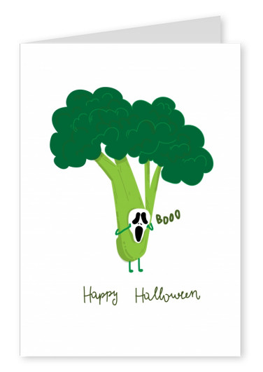 white card with brocoli