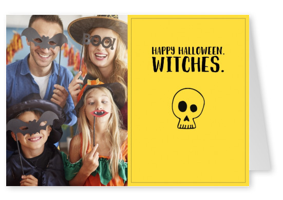 quote card Happy Halloween witches