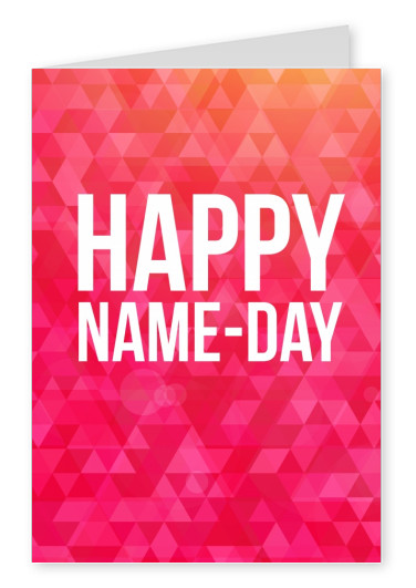 Happy name day congratulation cards send real postcards online happy name day colorful card with typography m4hsunfo