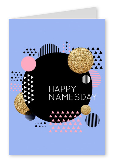 colorful card with font