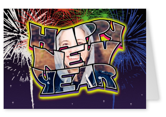 Large Letter Postcard Site happy new year