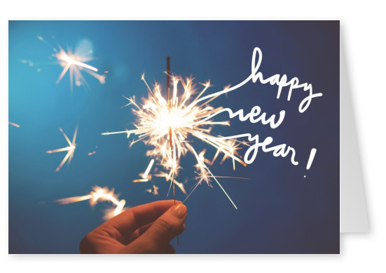 Happy New Year with Sparkler