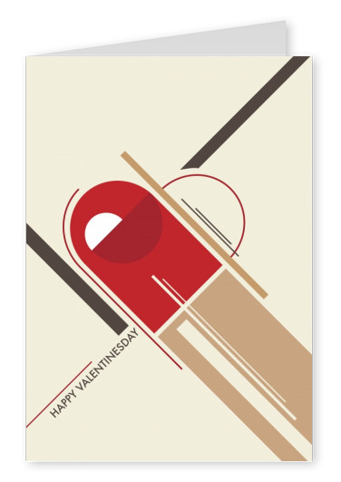 bauhaus design card heart