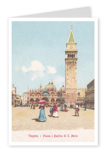 vintage style illustration of Venice