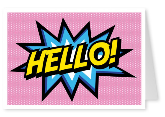 hello pop art comic bubble–mypostcard