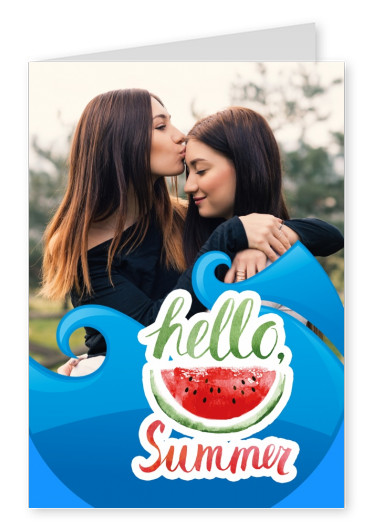 hello Summer mit Melonenillustration