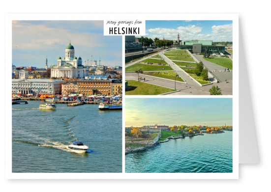 Three photos of the city helsinki in finland