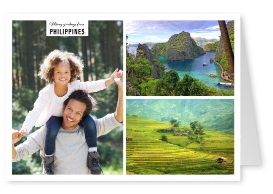 Coast landscapes of the Philippines in two photos