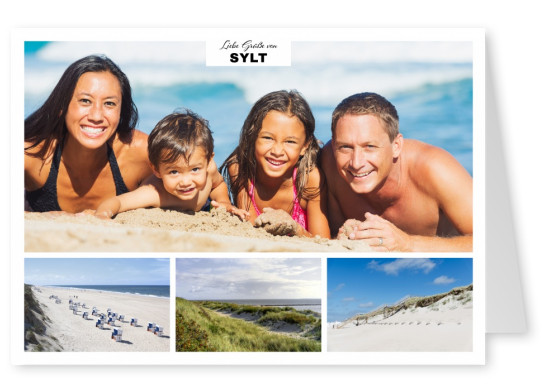 Three photos of Sylt with beach