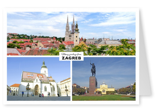Architecture of Zagreb in three photos