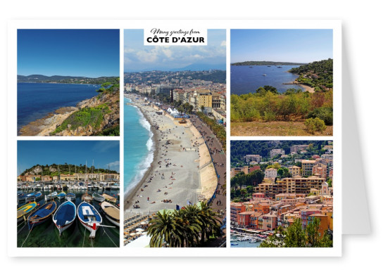 Inner cities of the Cote d'Azur and the coast landscapes