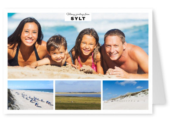 Sylt and its different coastlines in three photos