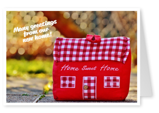 saying card home sweet home