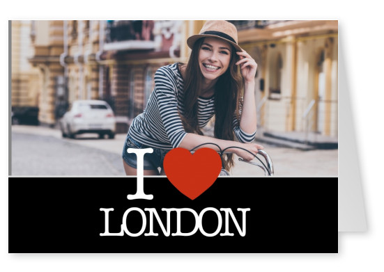 I love London Postkarte
