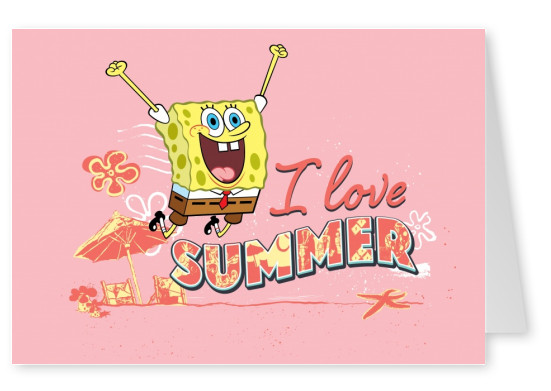I love summer - Spongebob jumping