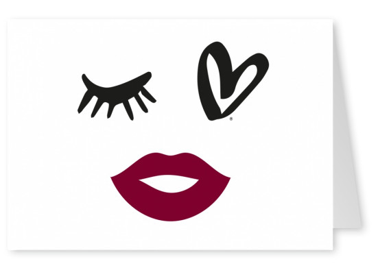 illustration Eye-love lips