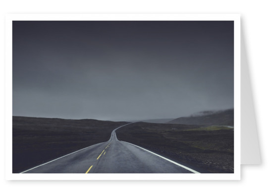 rainy road in the middle of nowhere