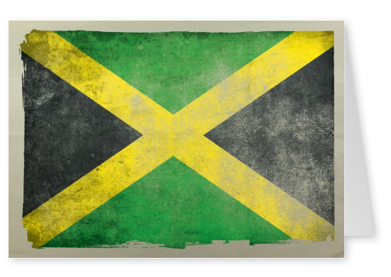 Postcard with flag of jamaica