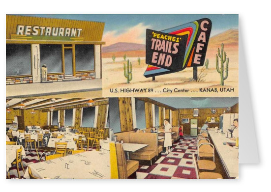 Mary L. Martin Ltd. U.S. highway 89 City Center Kanab, Utahvintage postcard