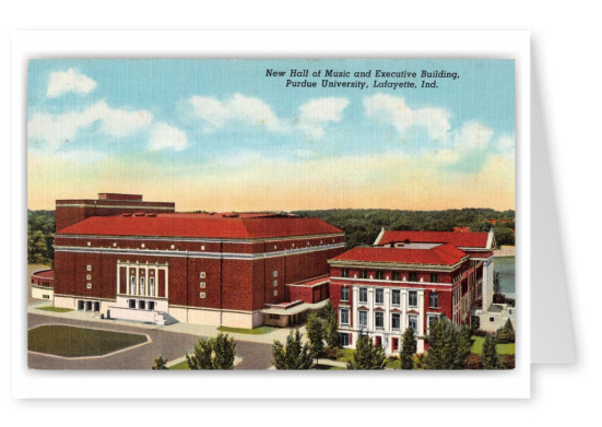 Lafayette, Indiana, new Hall of Music and Executive Building, Purdue Univeristy