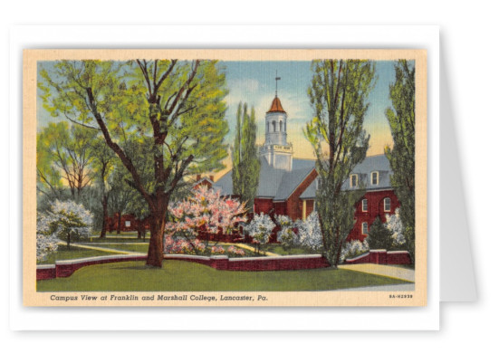 Lancaster, Pennsylvania, Campus view, Franklin and Marshall College