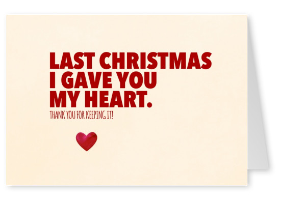 funny quote christmas postcard