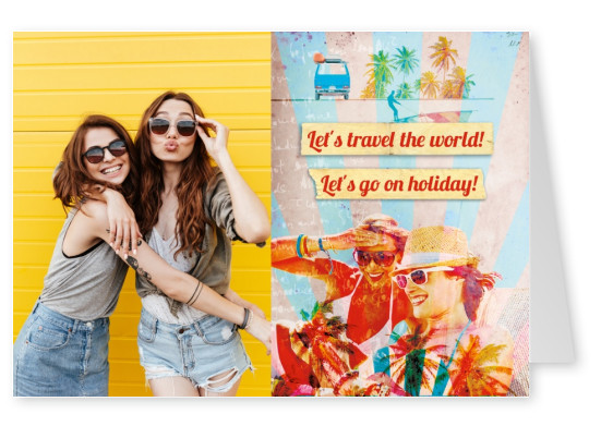 Let's travel the world collage